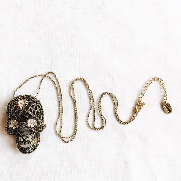 Mexican day of the dead Skull Necklace
