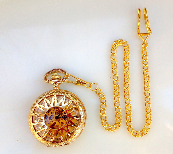 A new collection Sunburst Mechanical Pocket Watch
