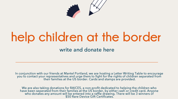Letter Writing and Fundraising for RAICES