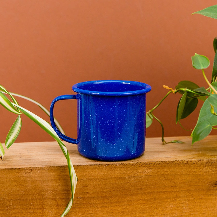 Stinson Enamel Mug - Medium Blue Speckled