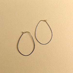 Large Egg Hoops - Silver