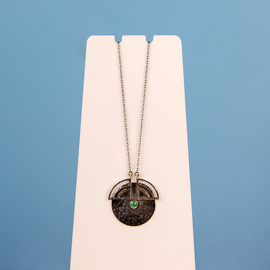 Radiate Pendant with Malachite Necklace