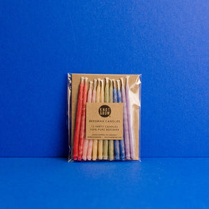 Beeswax Party Candles - Rainbow