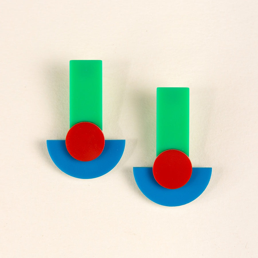 Boatall Earrings - Light Green