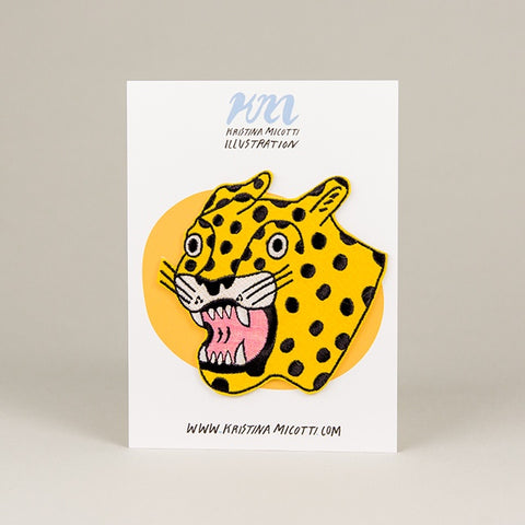 Yellow Cheetah Patch
