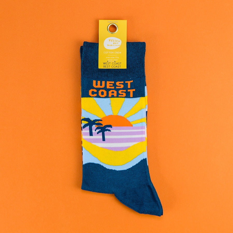 Best Coast Crew Socks - Blue