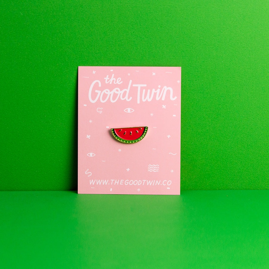 The Good Twin Lapel Pin - Watermelon
