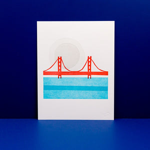 Greetings From San Francisco Letterpress Print