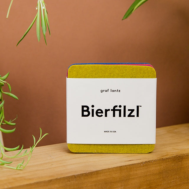 Bierfilzl Square Coasters - Electric