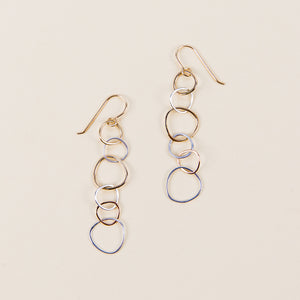 Three-Color Narrow Linear Hoop Earrings