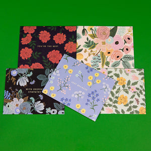 Essential Card Set of 15 - Mixed Florals
