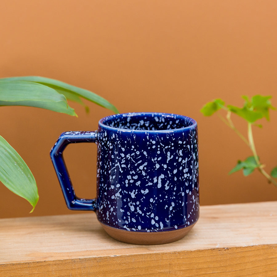 Navy and White Splash Mug