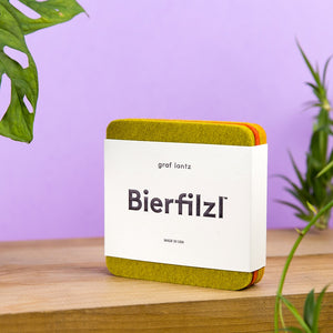 Bierfilzl Square Coasters, Sunburst (in packaging)
