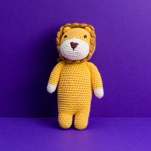 Mini Crocheted Doll - Leon the Lion