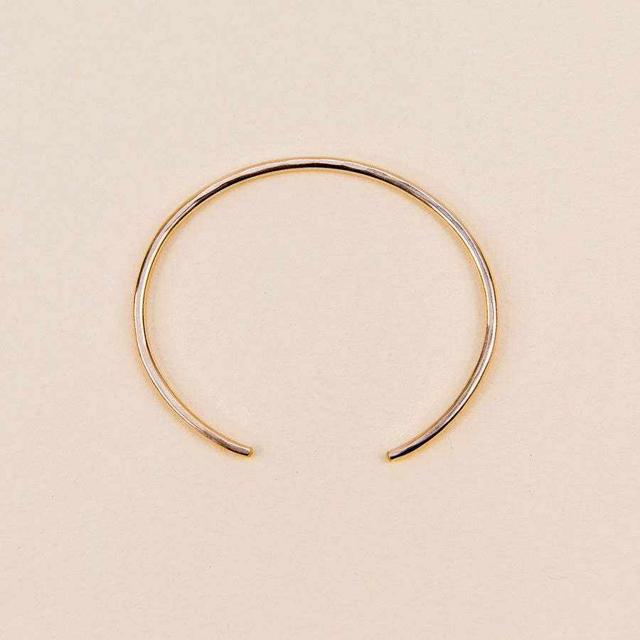 Gibbous Cuff Bracelet - Thick Gold
