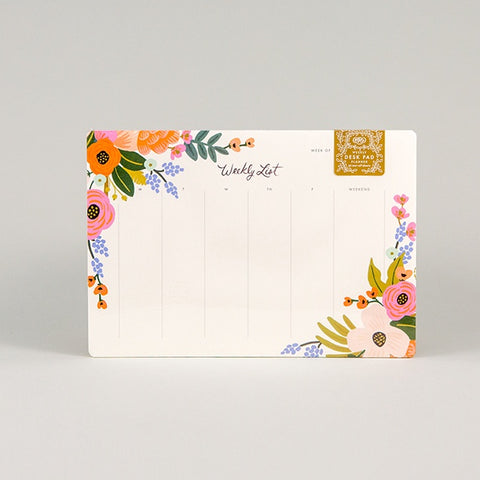 Lively Floral Desk Pad
