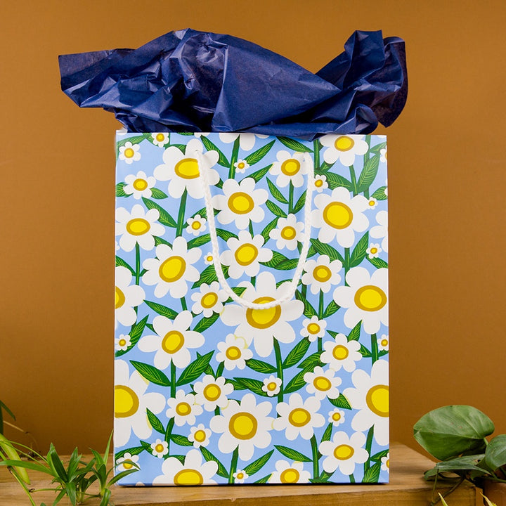Large Gift Bag - Seventies Daisy