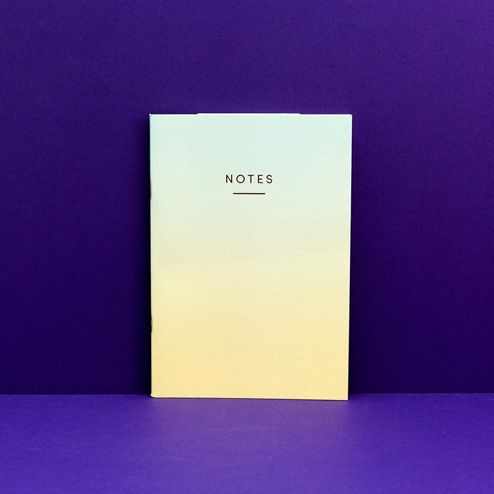 A5 Notebook - Ombre Blue/Yellow