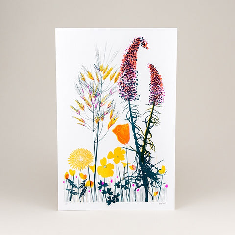 Bernal Flowers Riso Print