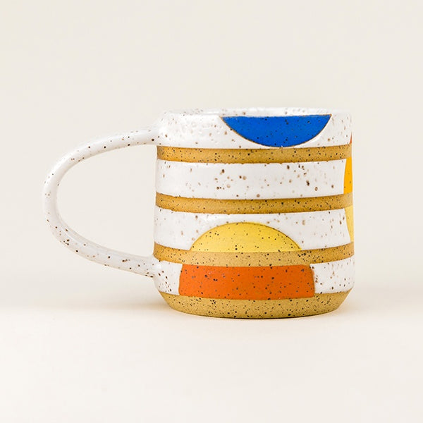 Golden Sun Mug with Blue