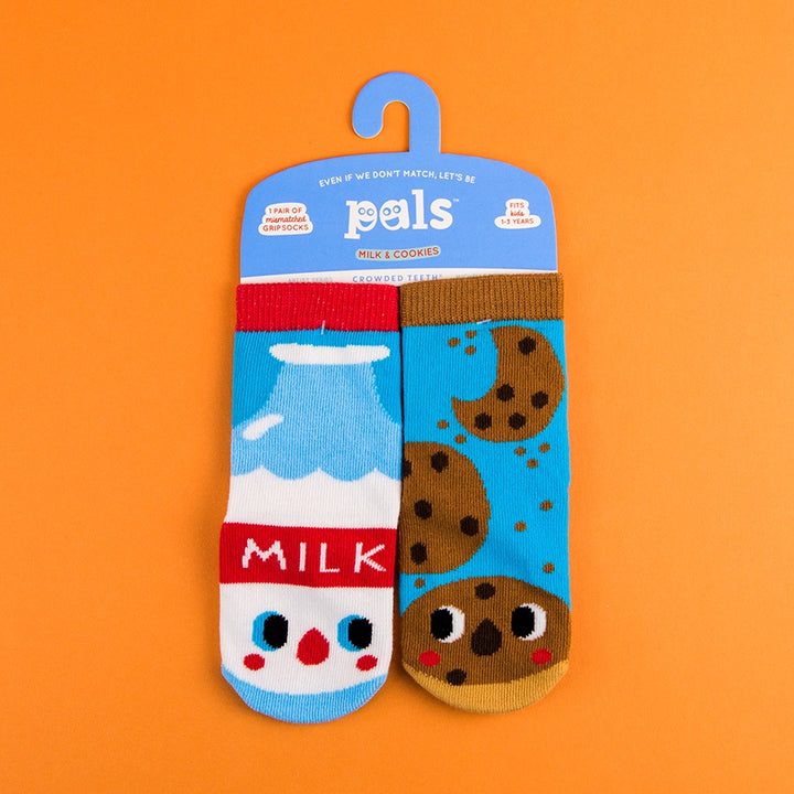 A Pair of Pals Socks 1-3 Years - Milk & Cookies