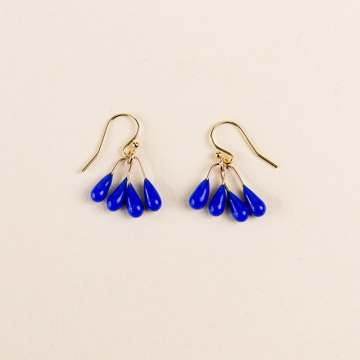 Small Lustre Earrings - Blue