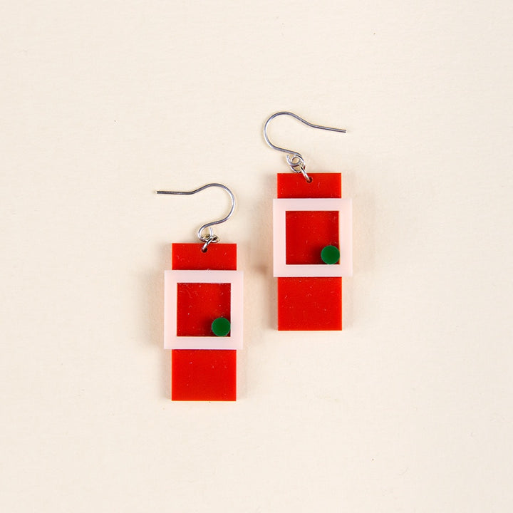 Recdot Earrings - Red