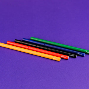 5 Pack Colored Prism Rollerball Pens