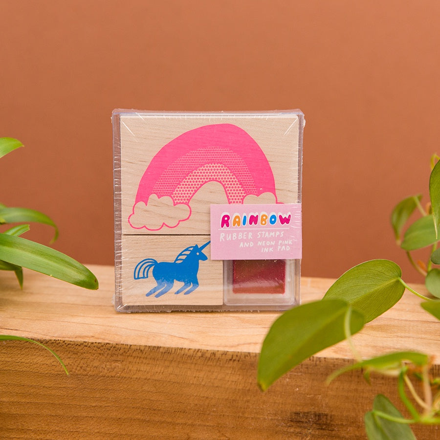 Rainbow and Unicorn Stamp Kit