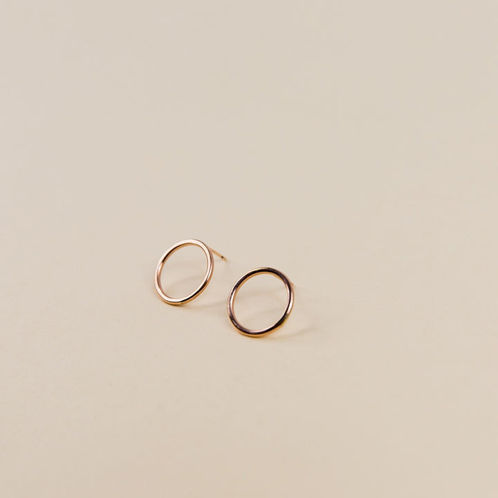 Large Circle Studs - Rose Gold