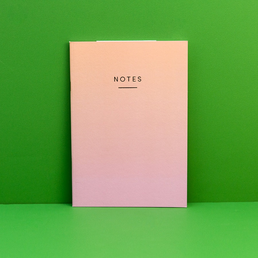 A5 Notebook - Ombre Orange/Pink