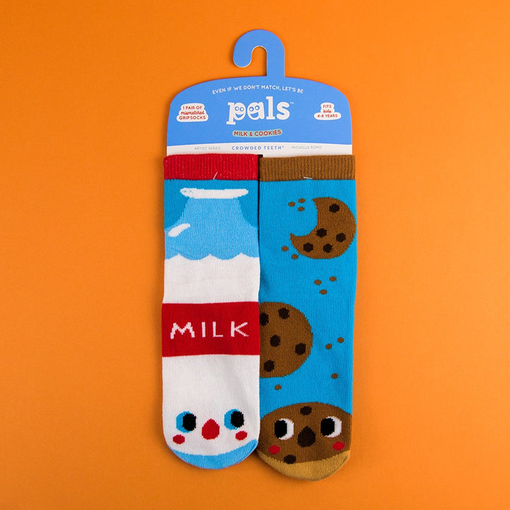 A Pair of Pals Socks 4-8 Years - Milk & Cookies