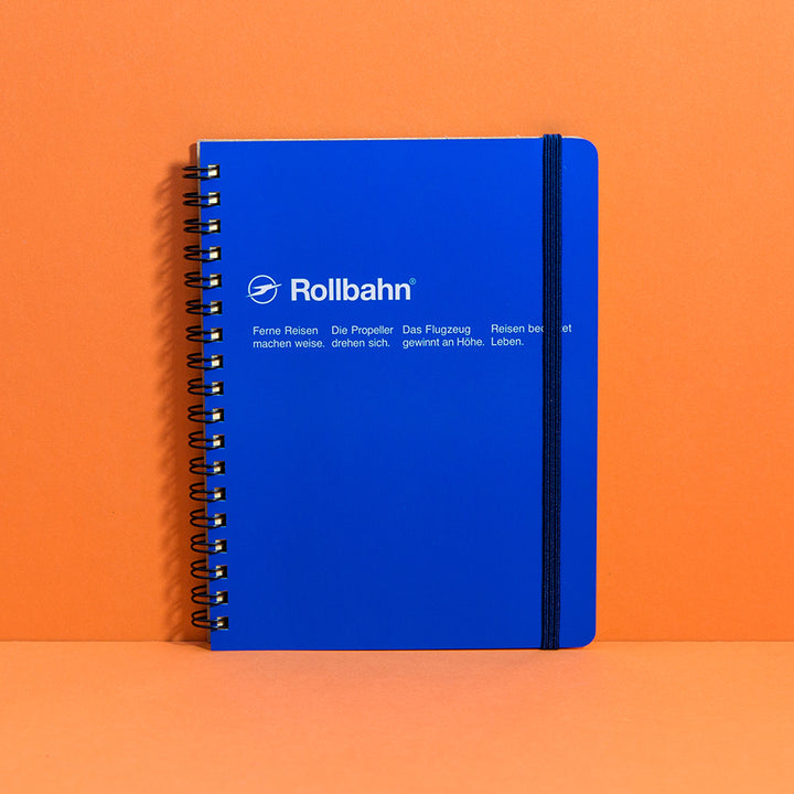 Rollbahn Spiral Notebook, Large - Blue