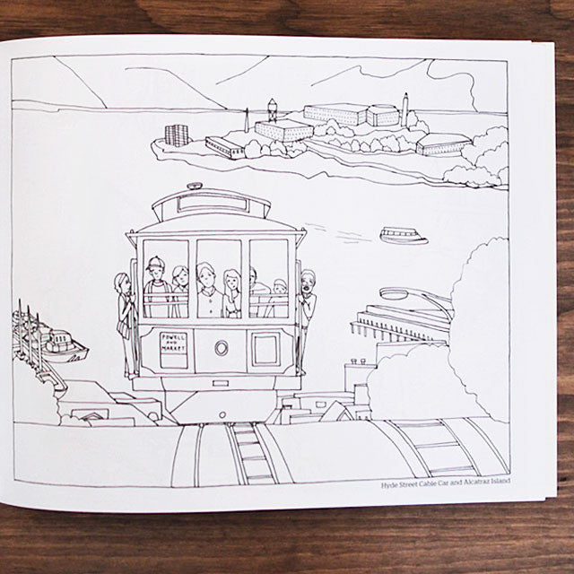 color this book san francisco - Abbi Jacobson Coloring Book