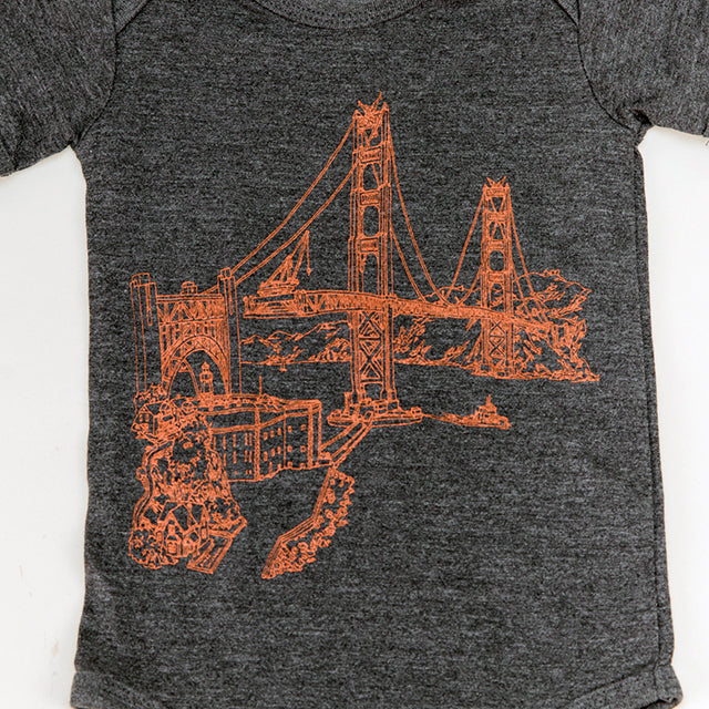 Golden Gate Bridge Kids Shirt