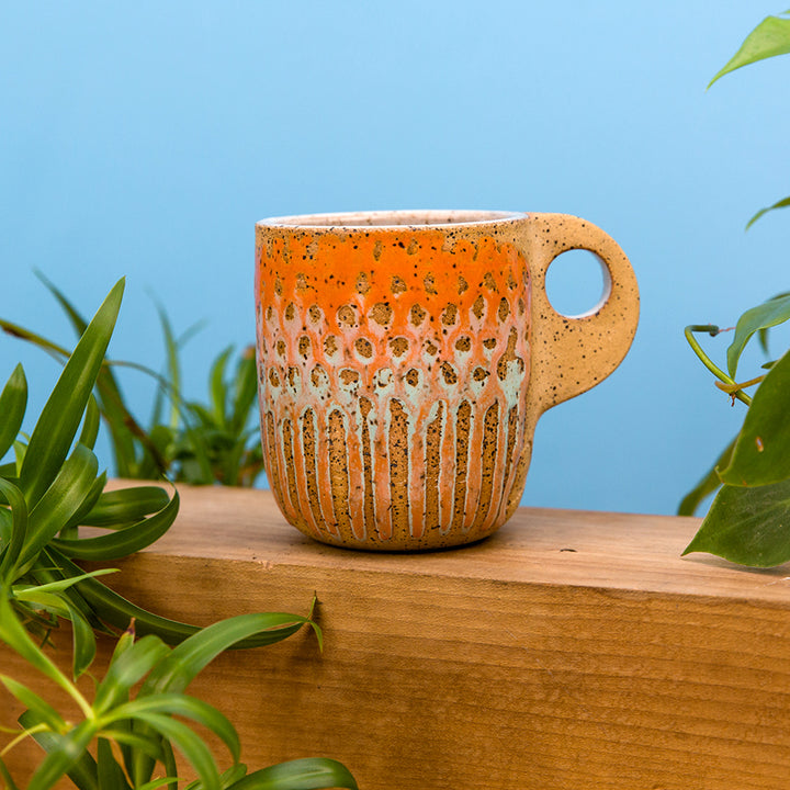Dot Mesh Mug - Jellyfish