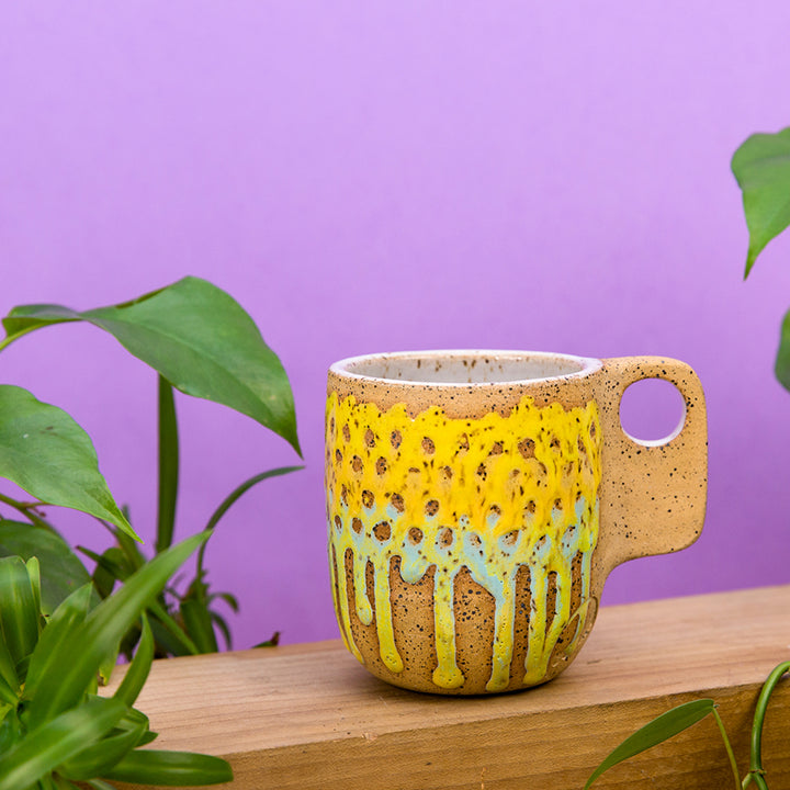 Dot Mesh Mug - Sunflower