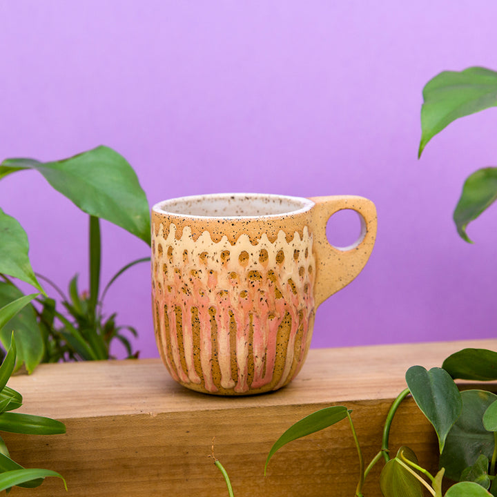 Dot Mesh Mug - Sunrise