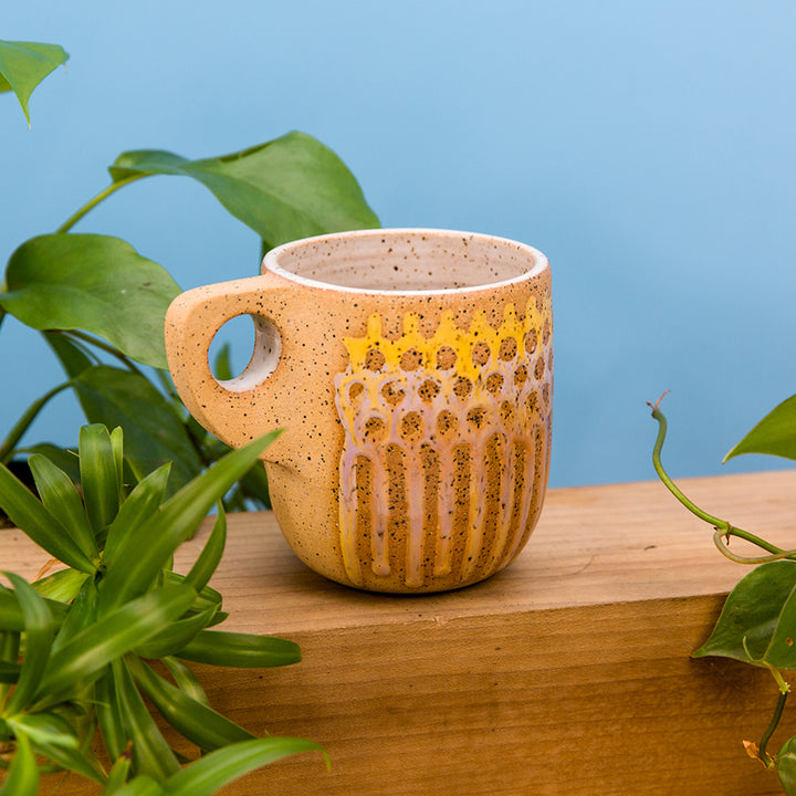 Dot Mesh Mug - Sunset