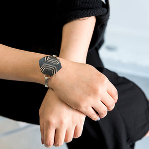 Pathfinder Pinch Cuff Bracelet (on model)