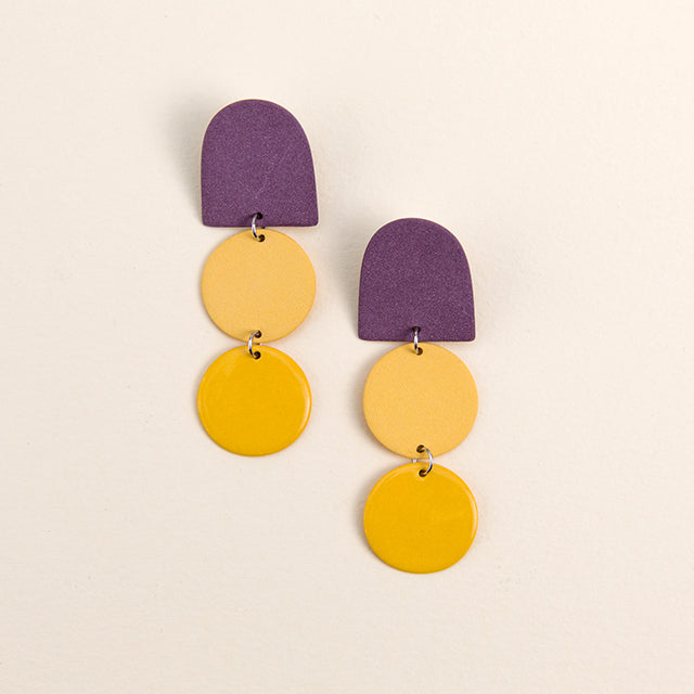 Dome Drop Earrings