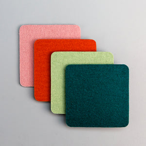 Bierfilzl Square Coasters - Happy