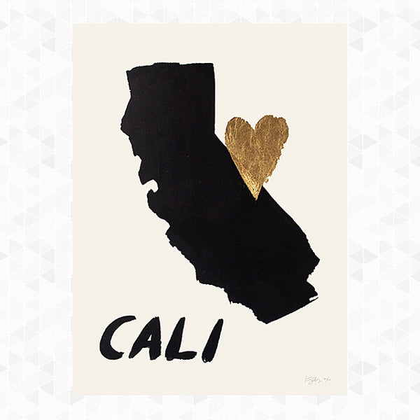 CA Home is Where the Heart Is Print