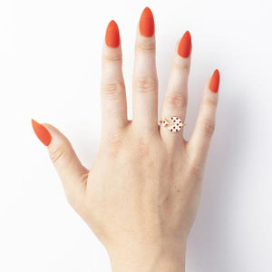 Adjustable Ring - Pizza (on model)