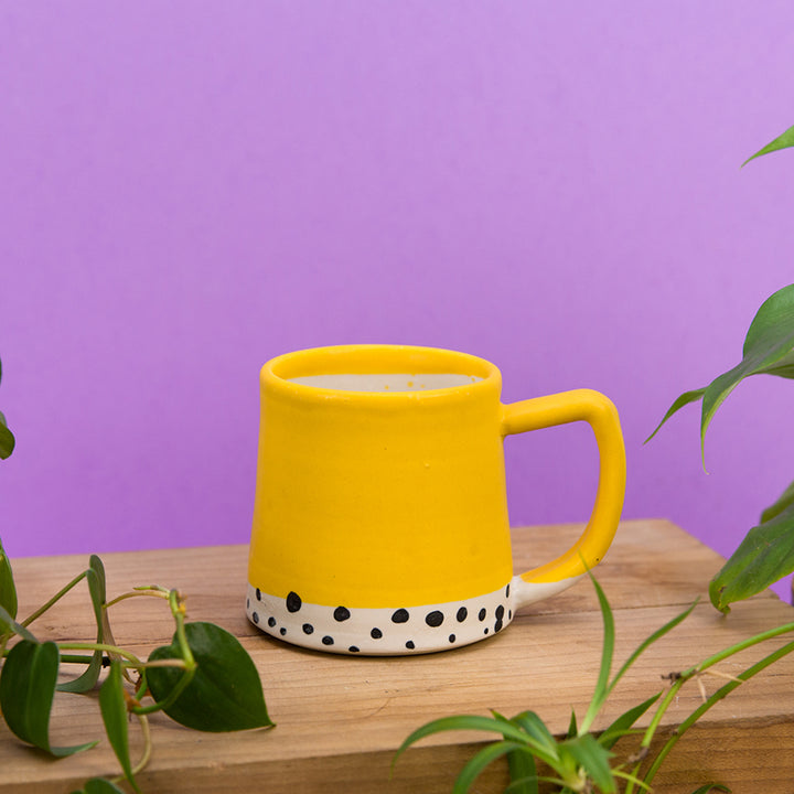 Confetti Dot Mug - Mustard Yellow
