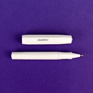 Skyline Sport Rollerball Pen, White (Open)