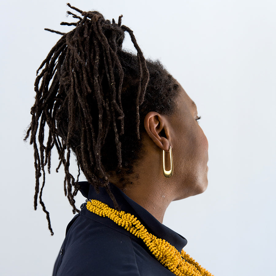 Nanya Hoop Earrings (on model)