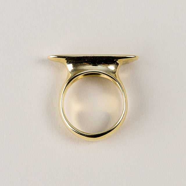 Piedra Polished Bronze Ring