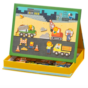 Magnetic Play Scene - Construction