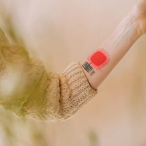 Tattly Pair - Love Blooms temporary tattoos (on model)